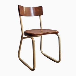 Industrieller Vintage Stuhl aus Metall & Holz