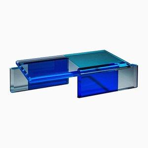 Blauer Couchtisch von Charly Bounan