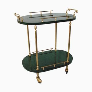 Gilded Metal and Wood Trolley, 1950s