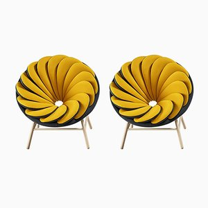 Quetzal Lounge Chairs by Marc Venot, Set of 2