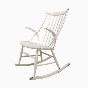 Rocking Chair Modèle IW3 Vintage par Illum Wikkelsø pour Niels Eilersen, Danemark, 1960s
