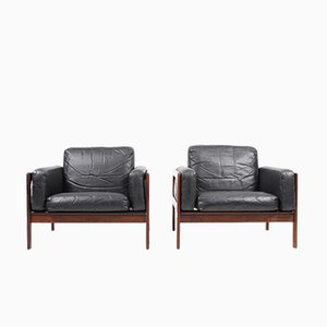 Rosewood Lounge Chairs from Komfort, 1960s, Set of 2