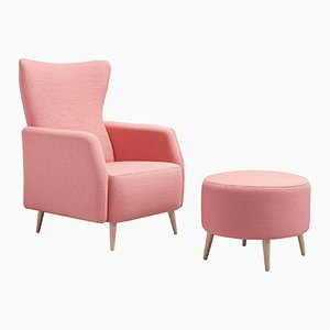 Alice in Wonderland Armchair & Pouf by Pepe Albargues