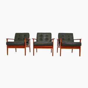 Danish Living Room Set by Arne Wahl Iversen, 1960s, Sofa and 3 Armchairs