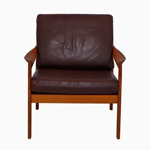 Danish Teak Armchair by Illum Wikkelsø for Niels Eilersen, 1960s