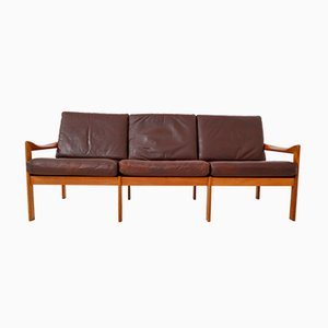 Danish Three-Seater Teak Sofa by Illum Wikkelsø for Niels Eilersen, 1960s