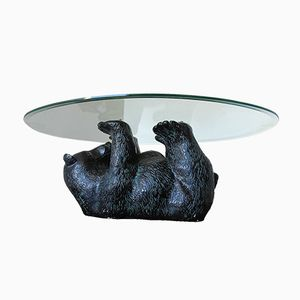Table Basse Sculpturale Ours Noir, 1970s