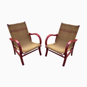 Vintage Bauhaus Lounge Chairs by Erich Dieckmann, Set of 2