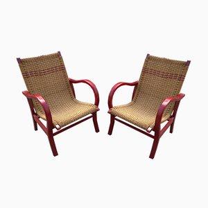 Vintage Bauhaus Sessel von Erich Dieckmann, 2er Set
