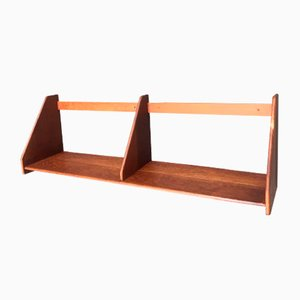 Teak & Oak Wall Shelf by Hans J. Wegner for Ry Møbler, 1950s