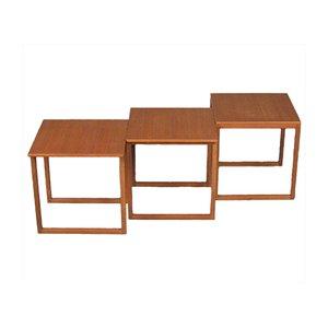 Tavoli ad incastro in teak di Kai Kristiansen per Vildbjerg Møbelfabrik, anni '60