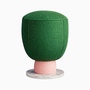 Toadstool Collection Green Pouf by Masquespacio