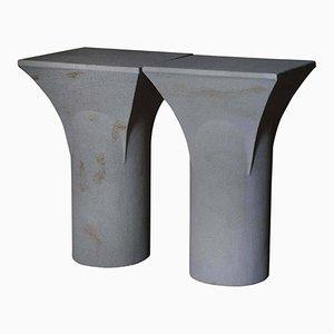 Tavolini Raviedi Sireu in pietra di Frederic Saulou, set di 2