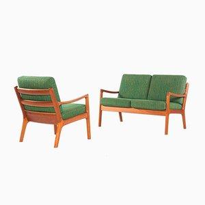 Canapé 2 Places et Fauteuil Série Senator en Teck par Ole Wanscher pour Cado, 1960s