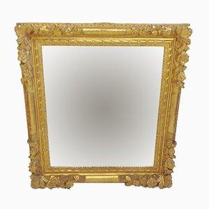 Antiker geschnitzter Spiegel mit Holzrahmen