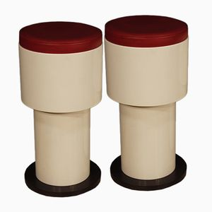 Italian Stools, 1980s, Set of 2