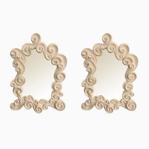 Miroirs Les Vagues Vintage par Jean Boggio, Set de 2