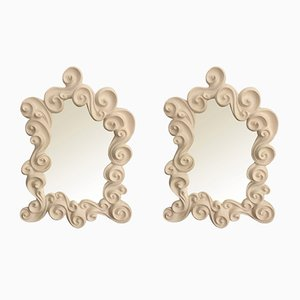 Vintage Les Vagues Mirrors by Jean Boggio, Set of 2