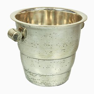 Art Deco Ice Cooler in Silvered Brass