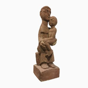 Grande Sculpture en Pierre par Clément Bousquet, 1950s