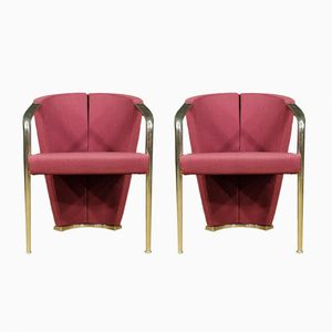 Italian Armchairs, 1980s, Set of 2