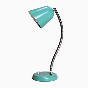 Lampe de Bureau Verte à Col de Cygne Vintage, 1960s