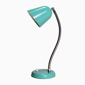 Vintage Green Gooseneck Desk Lamp, 1960s
