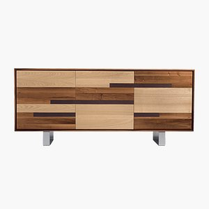 Oiled Natural Walnut NATURA Sideboard from DALE Italia