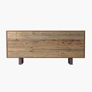 Oiled Natural Walnut ONTANO Sideboard from DALE Italia