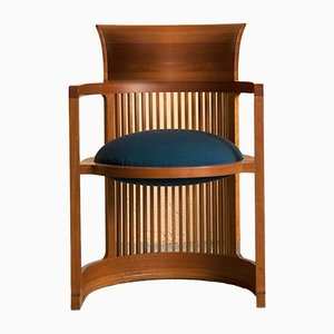 Barrel Chairs by Frank Lloyd Wright for Cassina, 1980s, Set of 6