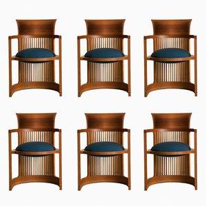 Taliesin Barrel Stühle von Frank Lloyd Wright für Cassina, 1980er, 6er Set