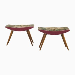 Italian Stools in Chintz, 1950s, Set of 2