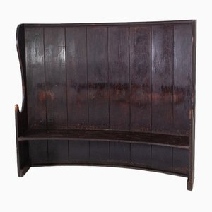 Large Antique Painted Settle