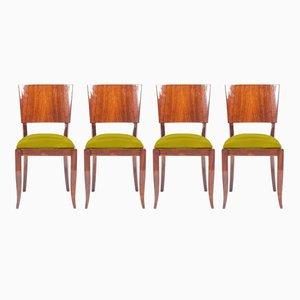 Personalisierbare Art Deco Esszimmerstühle, 4er Set