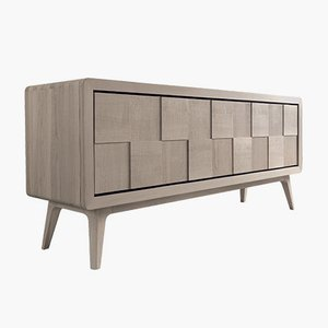 Oiled Natural Grey Walnut MANIA Sideboard with CONCRETA Doors from DALE Italia