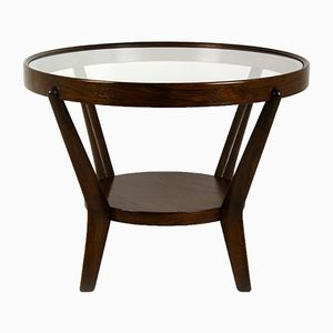 Round Coffee Table by Karel Koželka & Antonin Kropáček for Interier Praha, 1940s