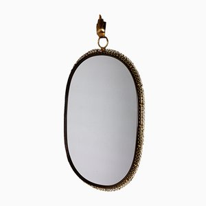 Mid-Century Brass Mirror by Josef Frank for Svenskt Tenn, 1950s