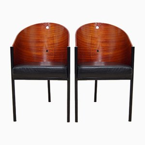 Costes Chairs by Philippe Starck for Driade, 1980s, Set of 2