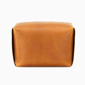 Bao Natural Leather Ottoman by Viola Tonucci for Tonucci Manifestodesign