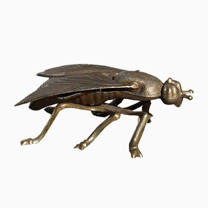 Italian Brass Fly Ashtray, 1950s