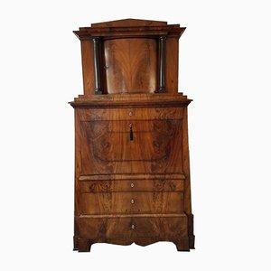 Kegelförmiger antiker Biedermeier Sekretär mit haubenförmigem oberen Teil