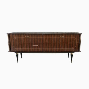French Macassar Lacquered Sideboard, 1950s