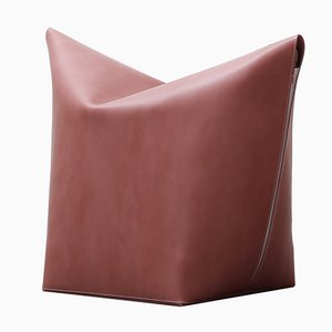 Dark Pink Mao Pouf by Viola Tonucci for Tonucci Manifestodesign