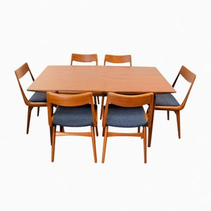 Vintage Boomerang Teak Dining Set by Alfred Christensen for Slagelse Møbelværk
