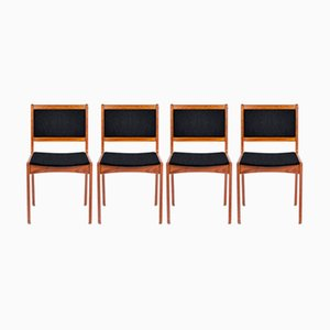 Customizable Danish Dining Chairs in Teak, Set of 4