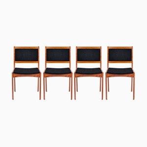 Personalisierbare dänische Esszimmerstühle aus Teak, 4er Set