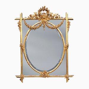 Antiker geschnitzter englischer Spiegel