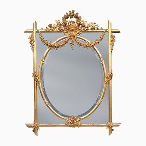 Miroir Antique en Bois Doré Sculpté, Angleterre