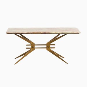 Italian Coffee Table with Onyx Tabletop, 1960s