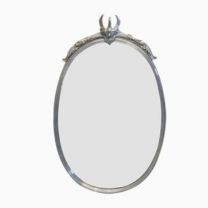 Specchi vintage con cigni, set di 2